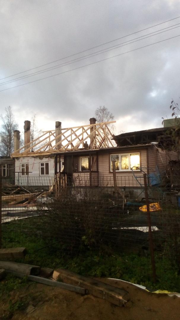 Помощь от жителей города погорельцам в Синявино.