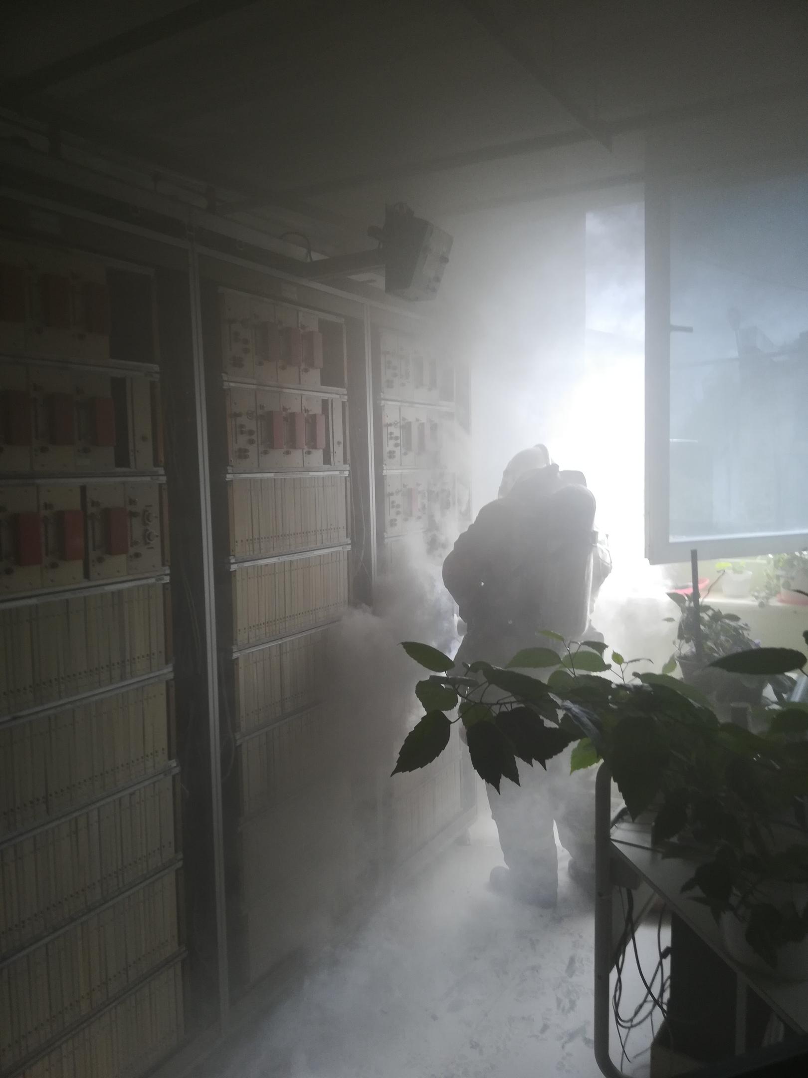 Пожар в здании Ростелекома