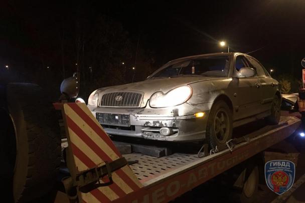 Погоня ДПС за пьяным водителем, закончилась у Ладожского моста